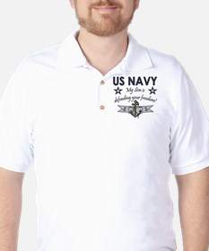 NAVY Son defending freedom T-Shirt