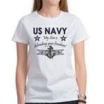 NAVY Son defending freedom Women's T-Shirt