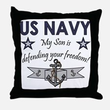 NAVY Son defending freedom Throw Pillow
