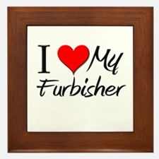 I Heart My Furbisher Framed Tile