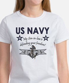 NAVY Son-in-law freedom Women's T-Shirt