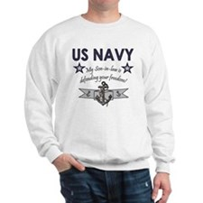 NAVY Son-in-law freedom Sweatshirt