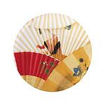"Vintage Japanese Fan Art 3.5"" Button"