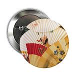 "Vintage Japanese Fan Art 2.25"" Button (10 pack)"