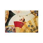 Vintage Japanese Fan Art Rectangle Magnet