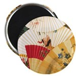 Vintage Japanese Fan Art Magnet