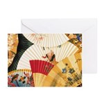 Vintage Japanese Fan Art Greeting Cards (Pk of 20)