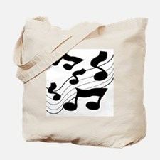 BLACK AND WHITE NOTES Tote Bag