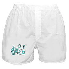 TURQUOISE NOTES Boxer Shorts