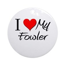 I Heart My Fowler Ornament (Round)