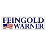 Feingold-Warner 2008 Bumper Sticker