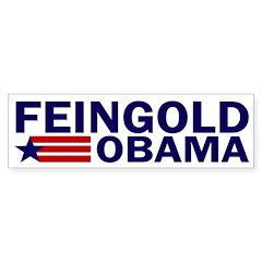 Feingold-Obama 2008 Bumper Bumper Sticker