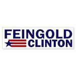 Feingold-Clinton 2008 Bumper Sticker