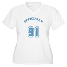 Officially 91 Women's Plus Size V-Neck T-Shirt