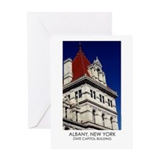 NYS Capitol Building Red Roof Greeting Card