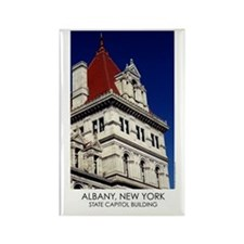 NYS Capitol Building Red Roof Rectangle Magnet