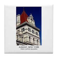 NYS Capitol Building Red Roof Tile Coaster