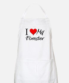 I Heart My Forester BBQ Apron