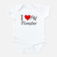 I Heart My Forester Infant Bodysuit