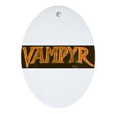 Funny Buffy the vampire Oval Ornament