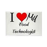 I Heart My Food Technologist Rectangle Magnet (10