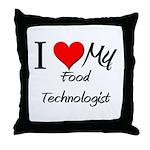 I Heart My Food Technologist Throw Pillow