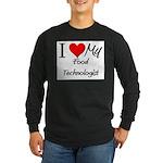 I Heart My Food Technologist Long Sleeve Dark T-Sh