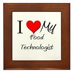 I Heart My Food Technologist Framed Tile