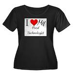 I Heart My Food Technologist Women's Plus Size Sco
