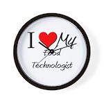 I Heart My Food Technologist Wall Clock