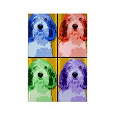 PBGV Pop Art Rectangle Magnet