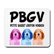 PBGV Pop Art Mousepad