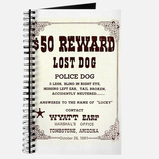 Lost Dog $50 Reward Journal