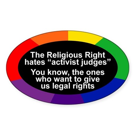 ACTIVIST JUDGES Oval Sticker