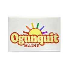 Sunny Gay Ogunquit, Maine Rectangle Magnet