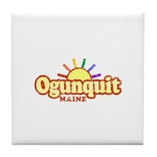 Sunny Gay Ogunquit, Maine Tile Coaster