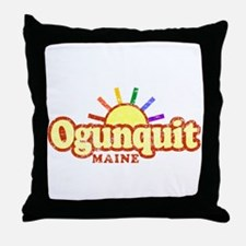 Sunny Gay Ogunquit, Maine Throw Pillow