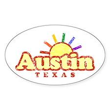 Sunny Gay Austin, Texas Oval Decal