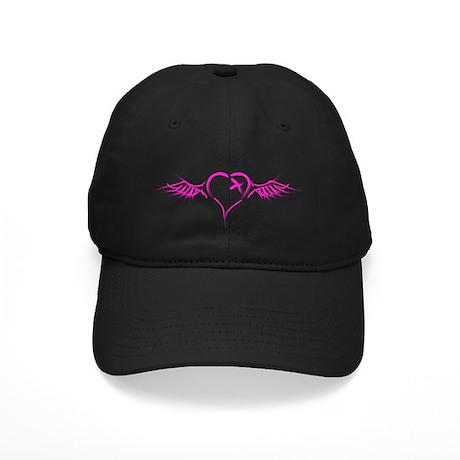 Flying Heart Black Cap