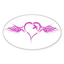 Flying Heart Oval Decal