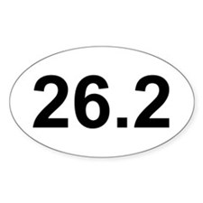 26.2 Marathon Running Oval Decal