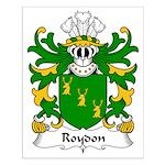 Roydon Family Crest Small Poster
