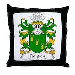 Roydon Family Crest Throw Pillow