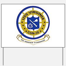 USS Virginia CGN 38 Yard Sign