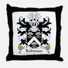 Robinson Family Crest Throw Pillow
