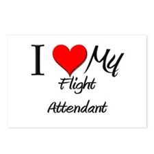 I Heart My Flight Attendant Postcards (Package of