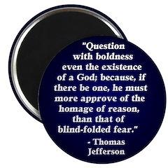 Jefferson Question God Magnet