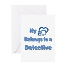 Detective Heart 2 Greeting Card