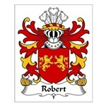 Robert Family Crest Small Poster