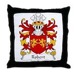Robert Family Crest Throw Pillow